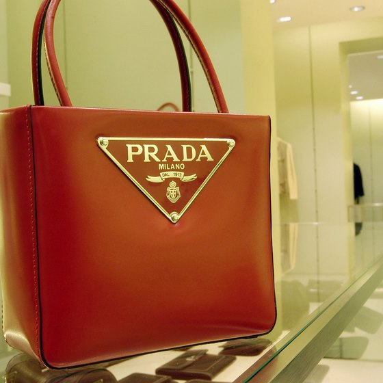 Italian shops sell a wide variety of designer-label leather bags.