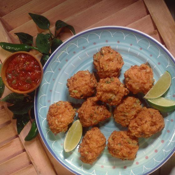 Conch fritters are a popular snack in the Bahamas.