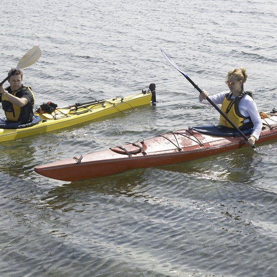 Kayaking provides a way to see the natural areas around Pentwater.