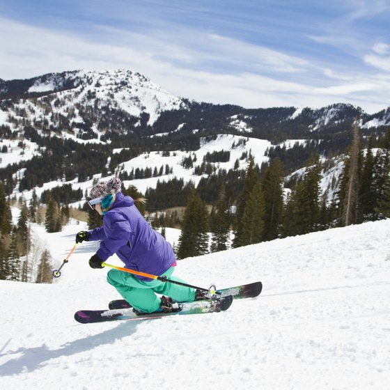 Skiing is a popular winter sport in North Carolina.