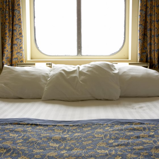 Sleeping three people in a cruise stateroom requires planning and compromise.