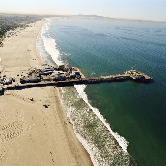 Southern California offers numerous beaches, including the sandy shores of Santa Monica.