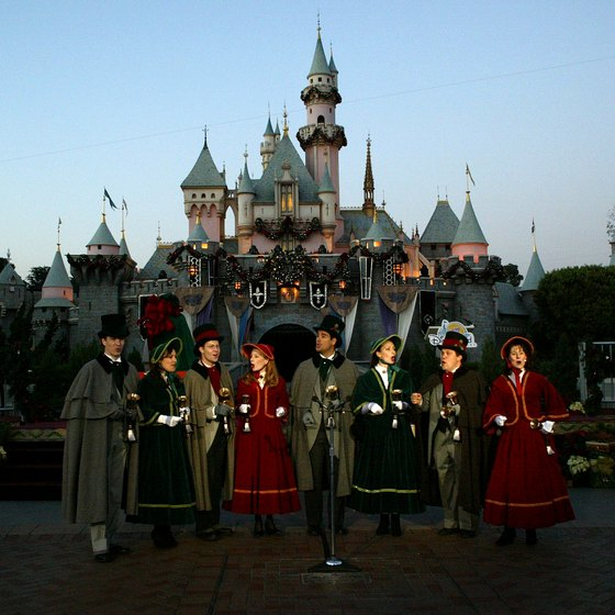 Carolers fill Disneyland with cheer on Christmas Eve.