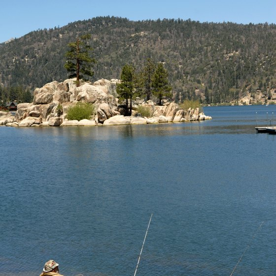 Enjoy a leisurely day of fishing at Big Bear Lake.