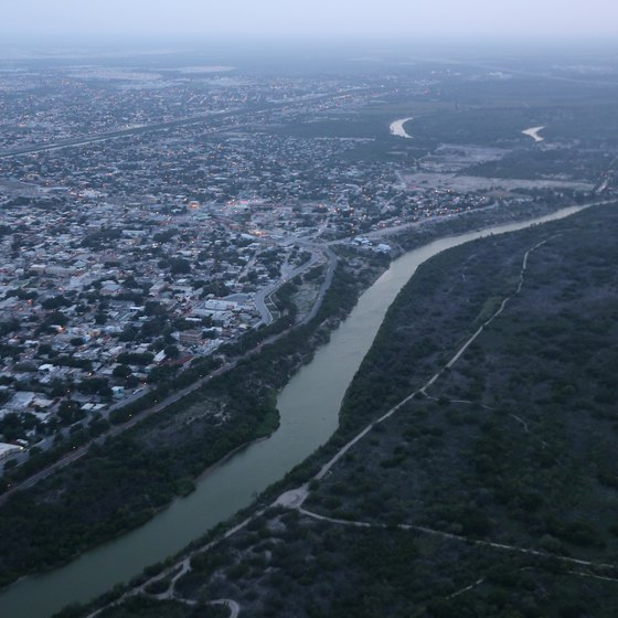 The Rio Grande Separates Mexico From Mcallen Texas