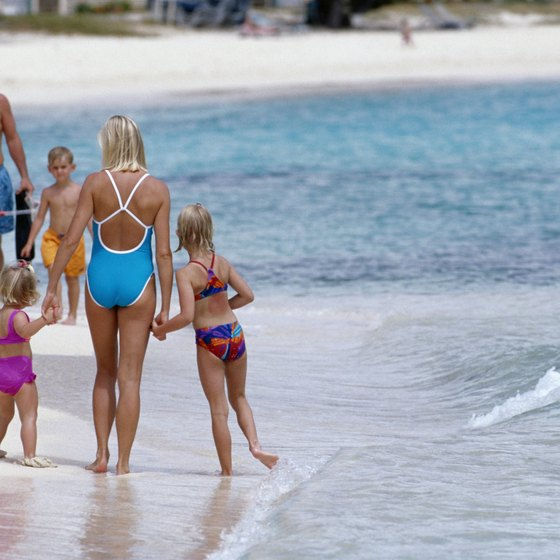 Kids will enjoy the white sand and gentle surf of St. Thomas beaches.