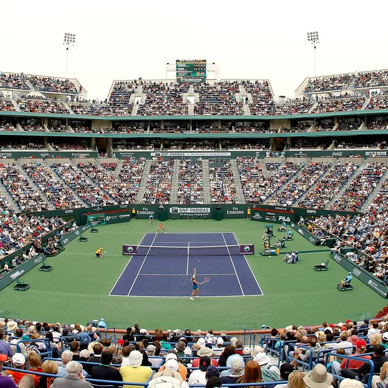 Fans come to Indian Wells to see the world's best tennis players at the BNP Paribas Open.