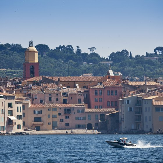 The historic town of St. Tropez is a popular spot for shore excursions.