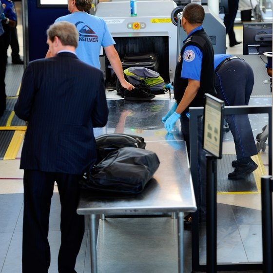 THe TSA screens all passenger baggage at the airport for prohibited items.