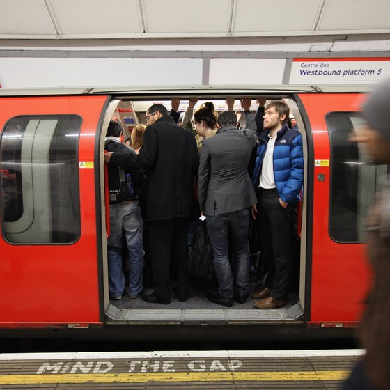 Be prepared to stand on the Tube during busy times.