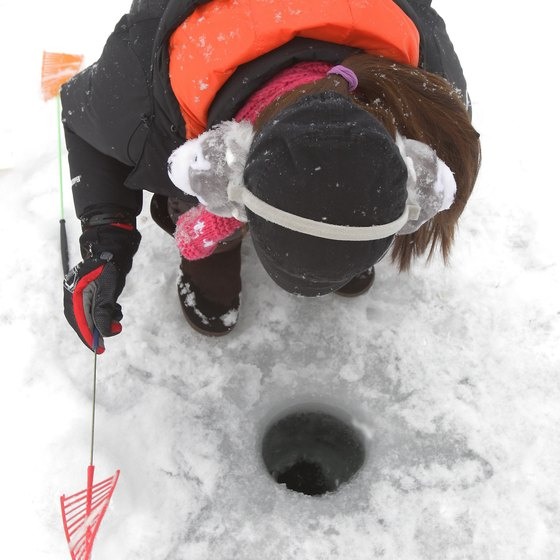 Whitney Point Reservoir offers excellent ice fishing.