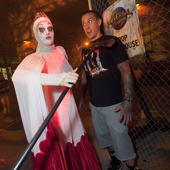 Central Florida visitors looking for a scare can visit Universal's Halloween Horror Nights during October.