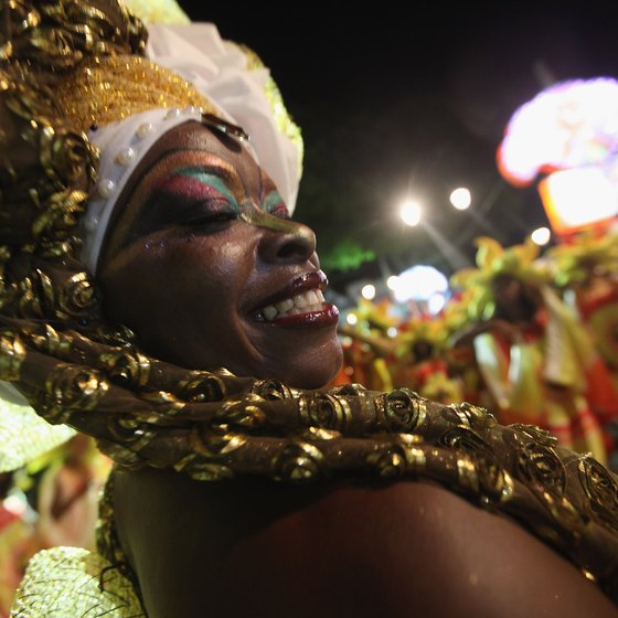 African culture plays a key role in Brazil's carnival celebrations.