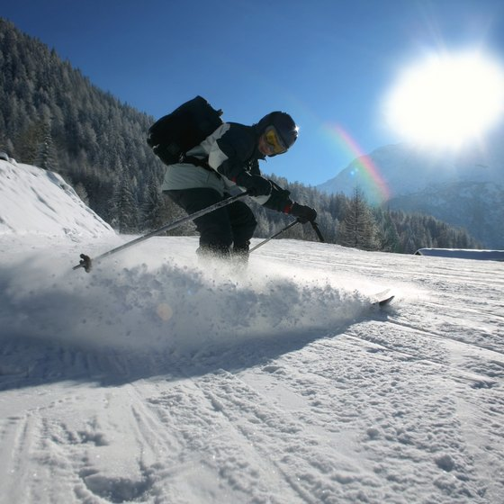 Skiing the French Alps offers thrills and thrilling scenery.