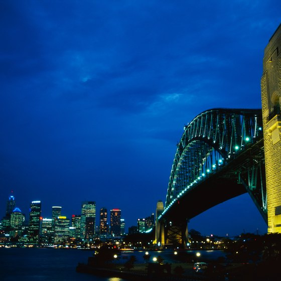 Circular Quay and the Sydney Harbour Bridge.