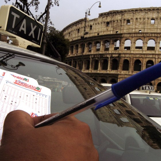 Rome's ubiquitous taxis are easiest to find around the city's major attractions.