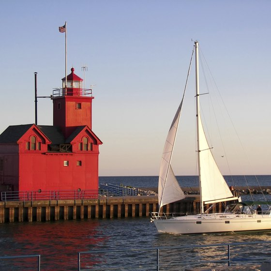 Michigan's waterfront campgrounds offer a variety of boating experiences.