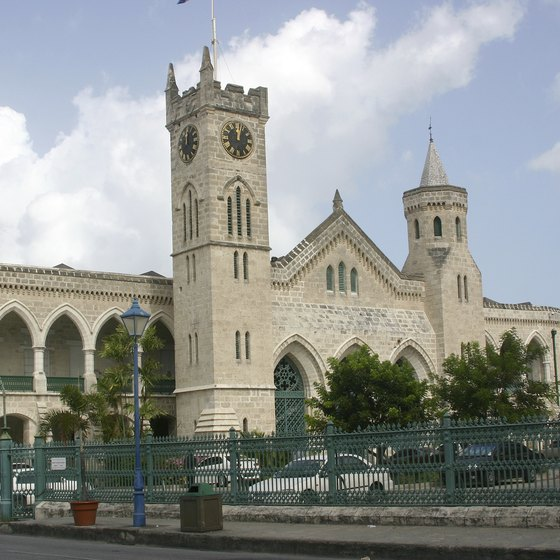 The Parliament Buildings are typical of Bridgetown's muted splendor.