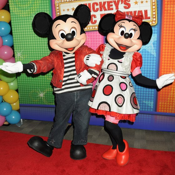 Disney cruises feature favorite characters, such as Mickey and Minnie Mouse.