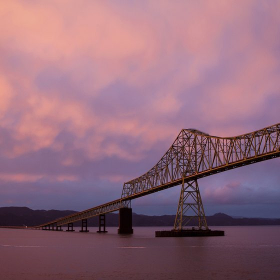 Lewis and Clark tours depart from Astoria, Oregon, traveling up the Columbia River.