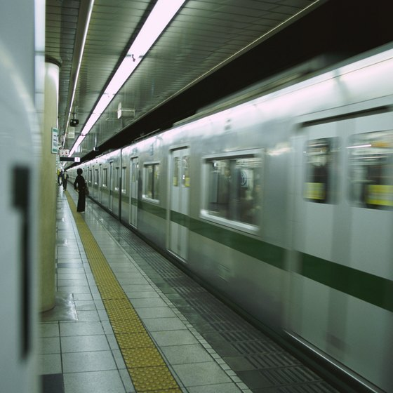 Subway trains near the hotel take you elsewhere in Tokyo and beyond.
