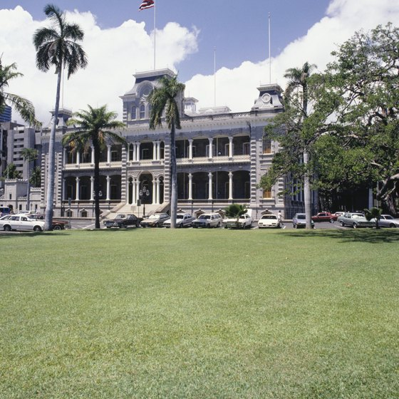 The Iolani Palace in Honolulu