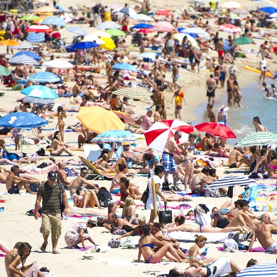 Avoid beach crowds: Visit a white-sand beach outside Barcelona.