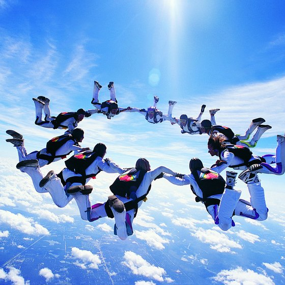 Skydiving is prohibited in Singapore airspace, so skydivers go elsewhere.
