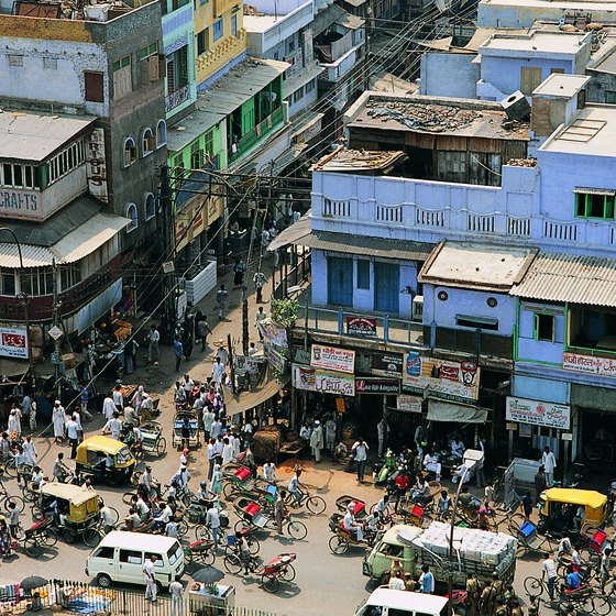 Cities such as New Delhi are teeming with people.