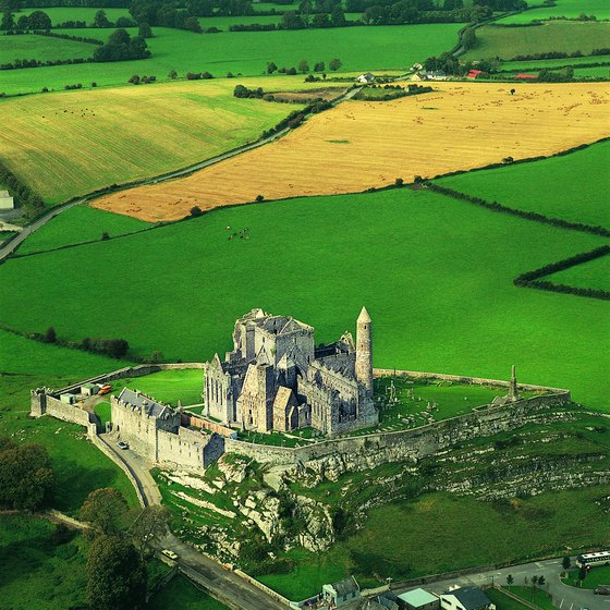 The impressive Rock of Cashel dominates the surrounding countryside.