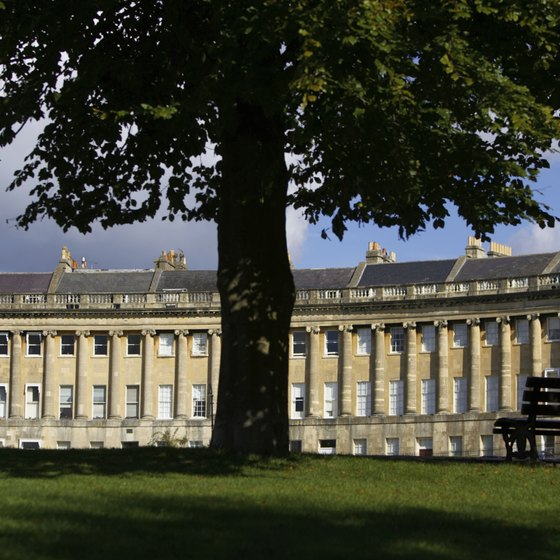 Royal Crescent in Bath is a beautifully preserved example of Georgian architecture.