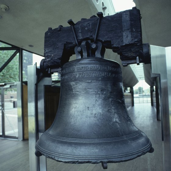 The Liberty Bell weighs approximatly 2,000 pounds.