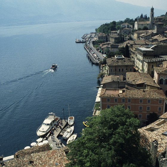 Lake Garda is a vacation destination for Italians and international tourists alike.
