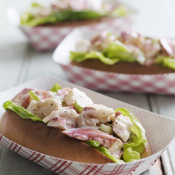 Maine lobster rolls are a New England-style treat.