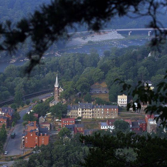 The historic town of Harpers Ferry and surrounding region is home to several important historical events.