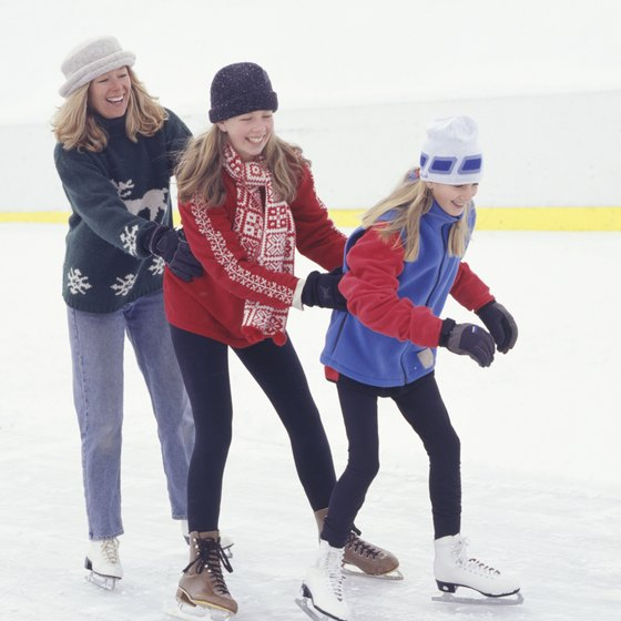 Visit Parma's ice rink during winter.