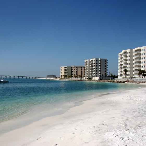 Stay at a high-rise condo along Destin's white sand beach.