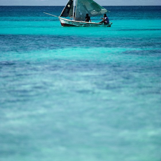 The clear blue waters off the coast of Haiti are ideal for snorkeling and swimming.