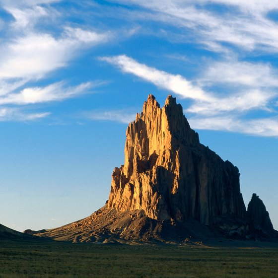 Formations like this are common on the Navajo Nation in New Mexico.