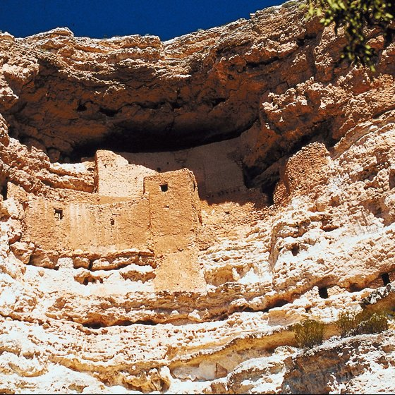 Montezuma Castle is one of several Sinagua ruins in Arizona.