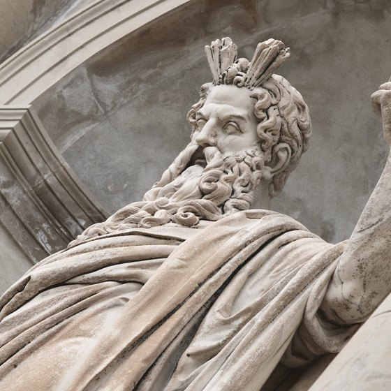 The god Zeus figures prominently in Greek art.