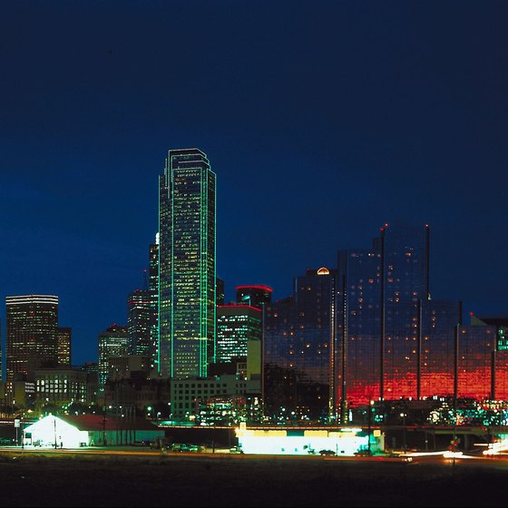 Travel to Dallas and stay at hotels located along the Stemmons Freeway.