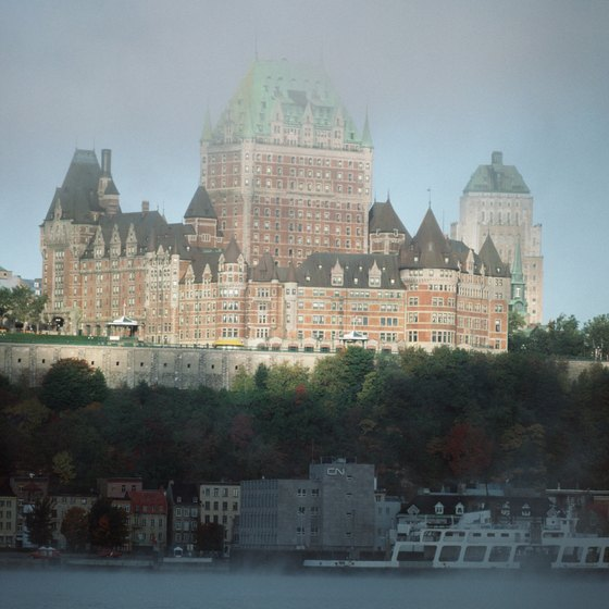 Chateau Frontenac as seen from the Levis ferry.