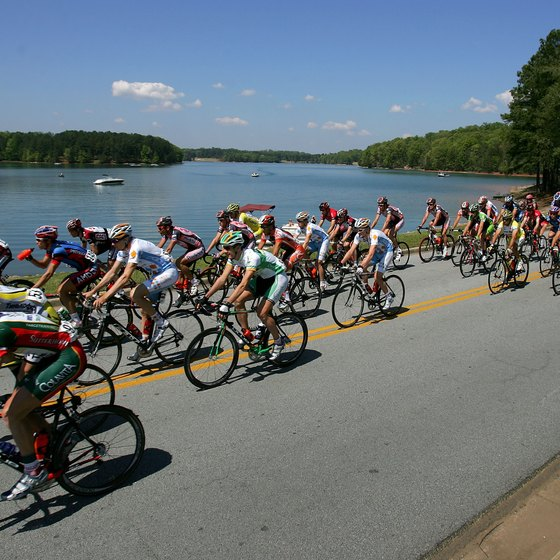Lake Lanier Islands during the Tour de Georgia bicycle race in 2007.