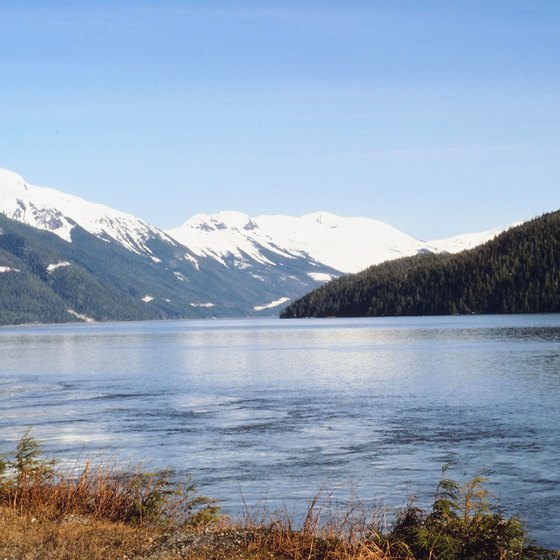 The Skeena Mountains overlook the Skeena River.
