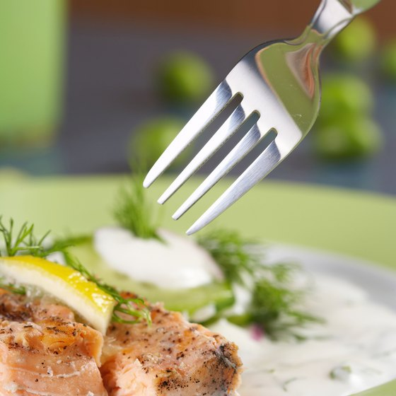 Fresh salmon is a delight served by many Bend restaurants.