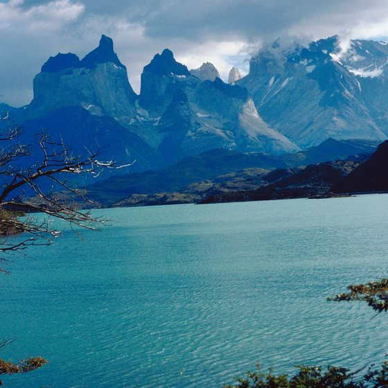 Patagonia is flanked by mountains and glaciers.