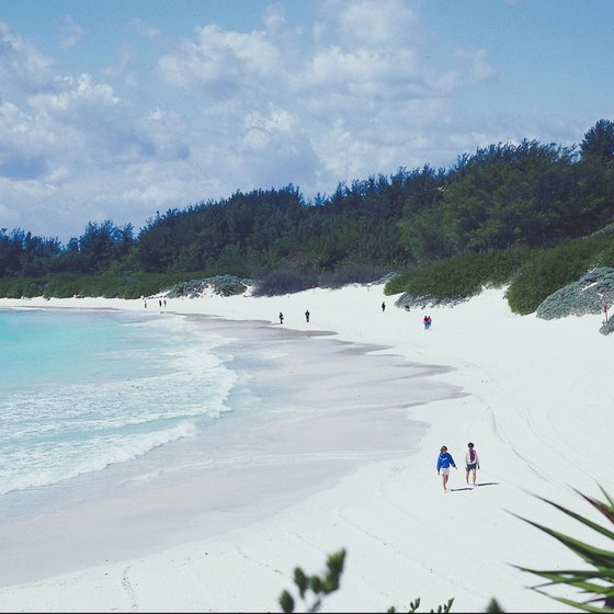Many tourists enjoy traveling to Bermuda for the mild climate and beaches.