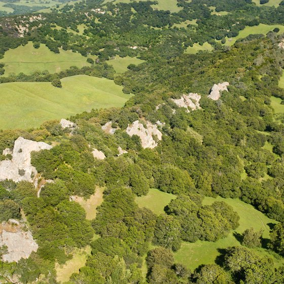 Aerial view of Mount Diablo State Park