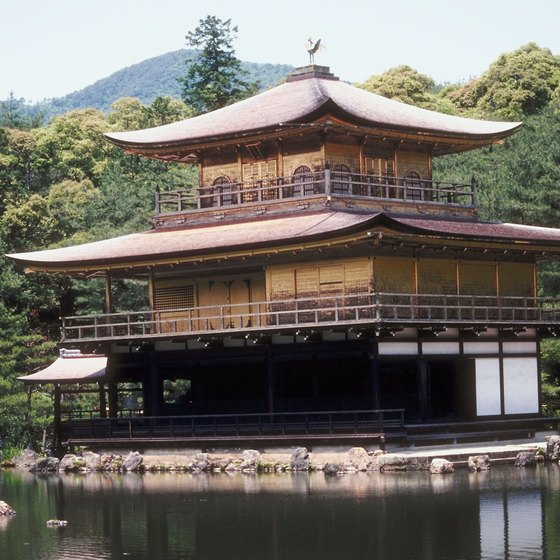 Kinkakuji, or the Golden Pavilion, is one of Kyoto's many historical tourist attractions.